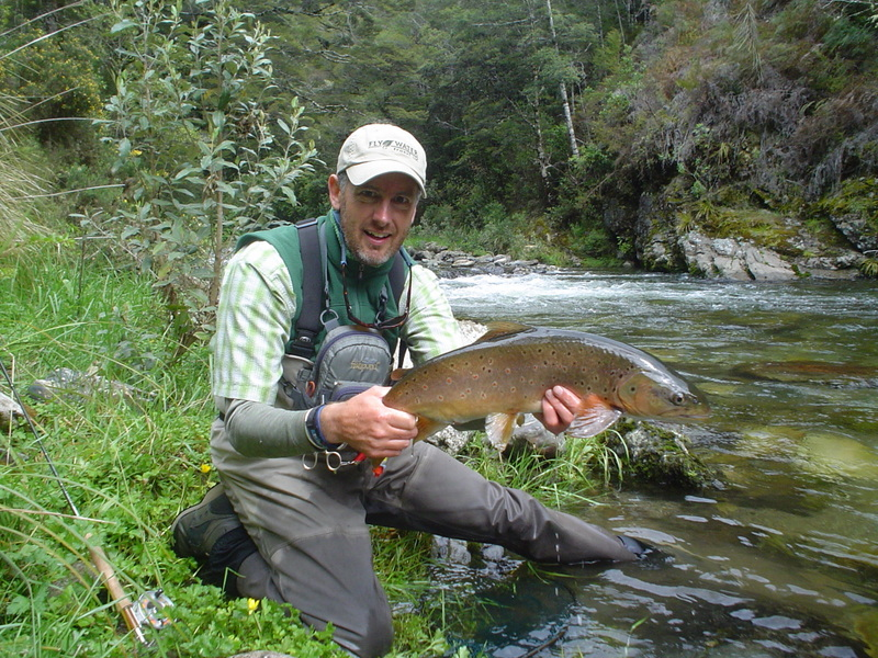 Trout fishing in New Zealand's South Island