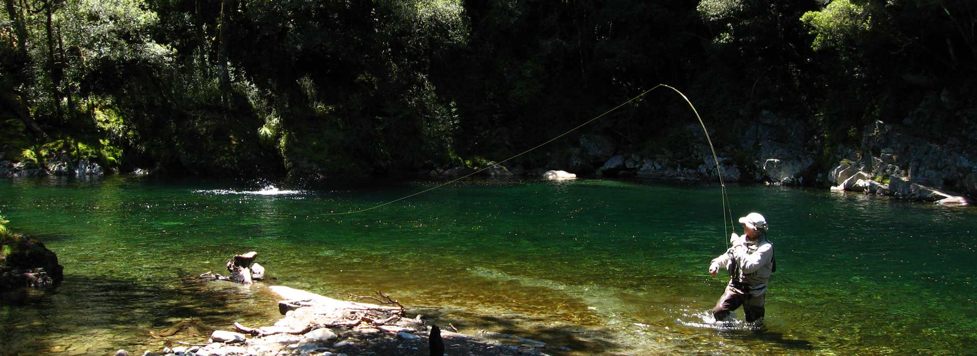 Trout fishing in the top of New Zealand's South Island