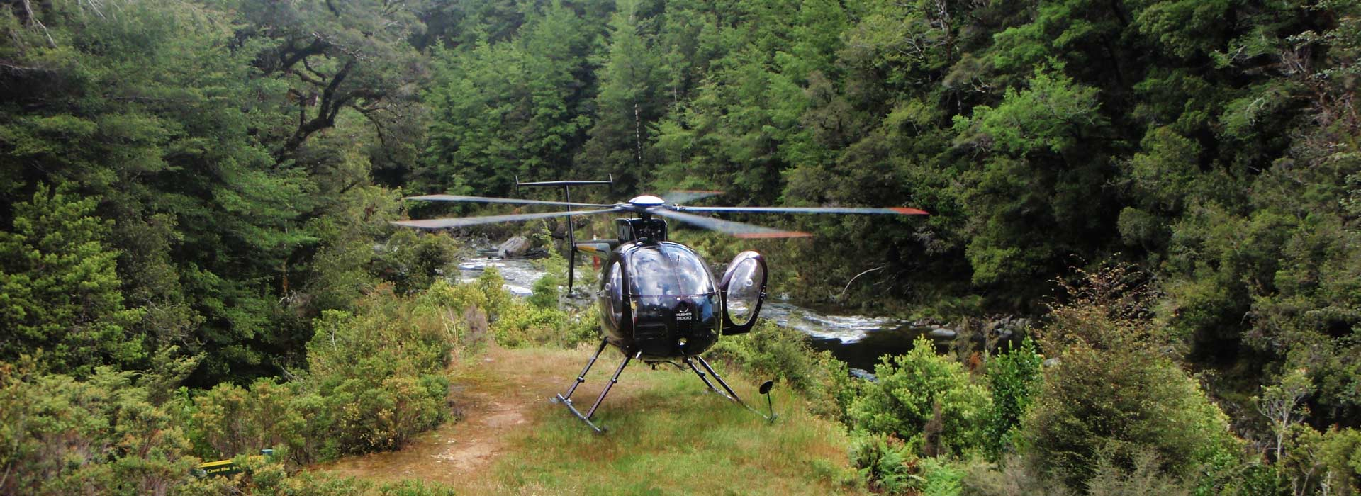 Heli fishing in New Zealand;s South Island